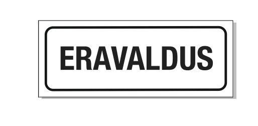 Eravaldus 40 x 15 cm mustvalge