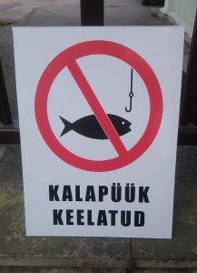 Kalapüük keelatud