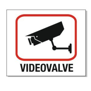Videovalve valgel taustal