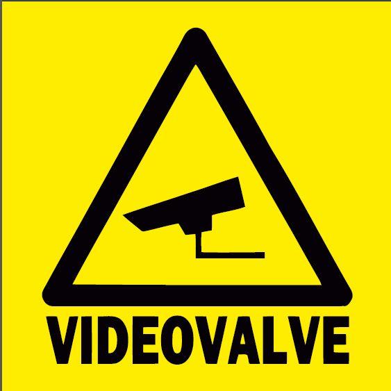 videovalve kollane 30x30 cm plastikust plaadil