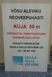 Kuja - sanitaarkaitsetsoon 50 m