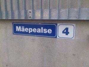 Aadressi silt - tänava nimi ja maja number