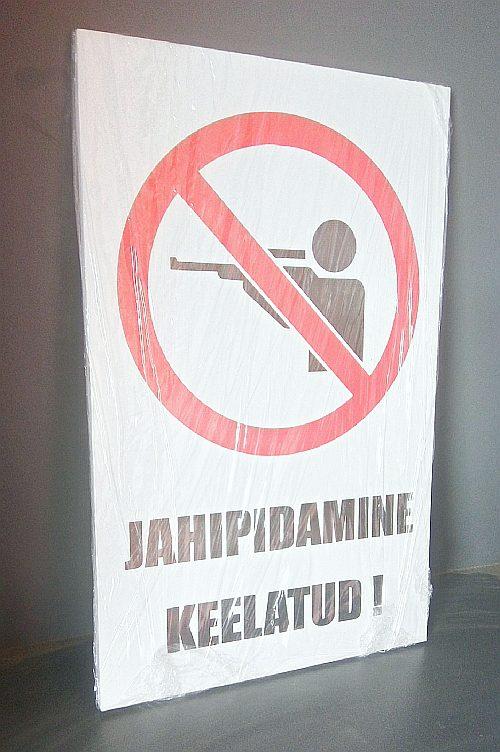 Jahipidamine keelatud