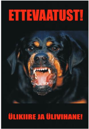 Ettevaatust kuri koer - ülikiire ja ülivihane