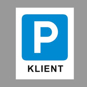 Klient P parkla sinine