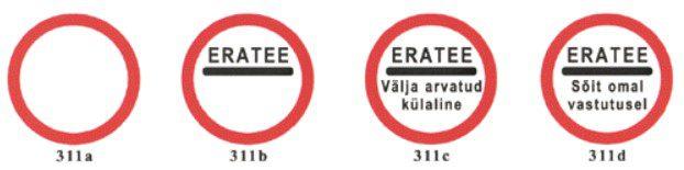 311 seeria liiklusmärgid