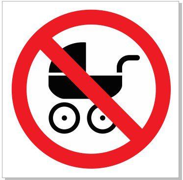 lapse käruga keelatud siseneda