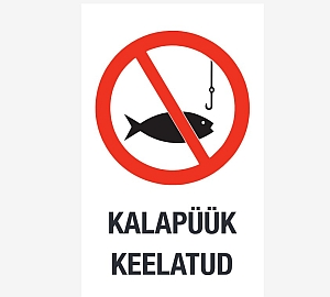 kalapüük keelatud no fishing