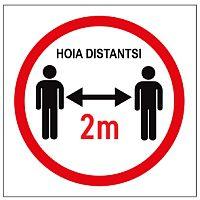 Hoia distantsi 2 m hoiatussilt 2+2 koroonaviirus