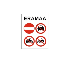 ATV ja mootorrattaga sõitmine keelatud, eramaa - eratee