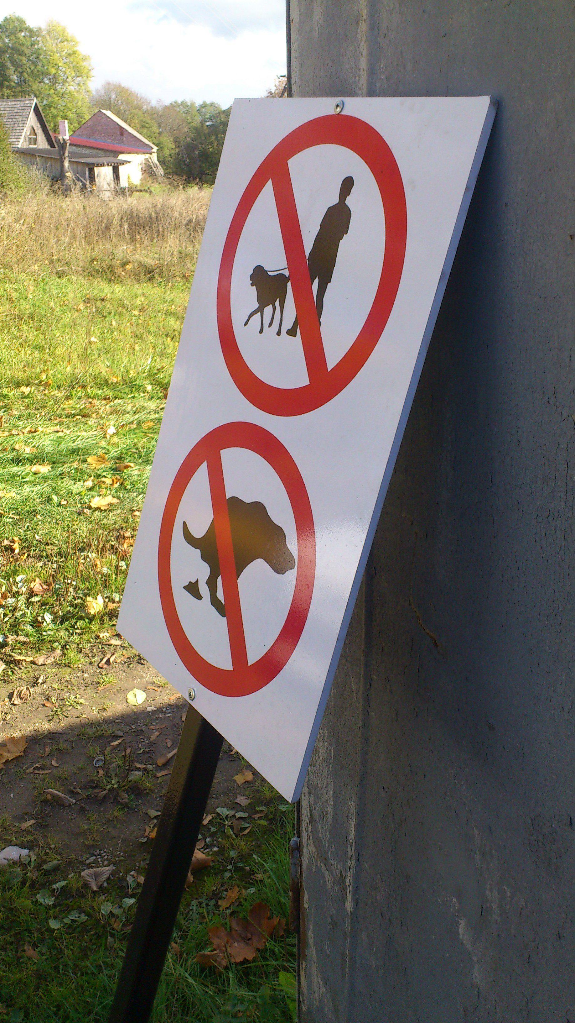 Koertega jalutamine keelatud