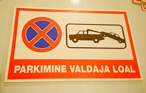 parkimine valdaja loal