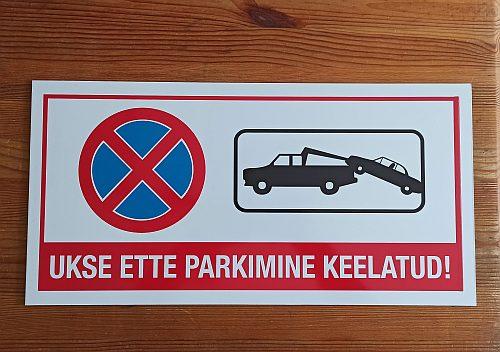 ukse ette parkimine keelatud