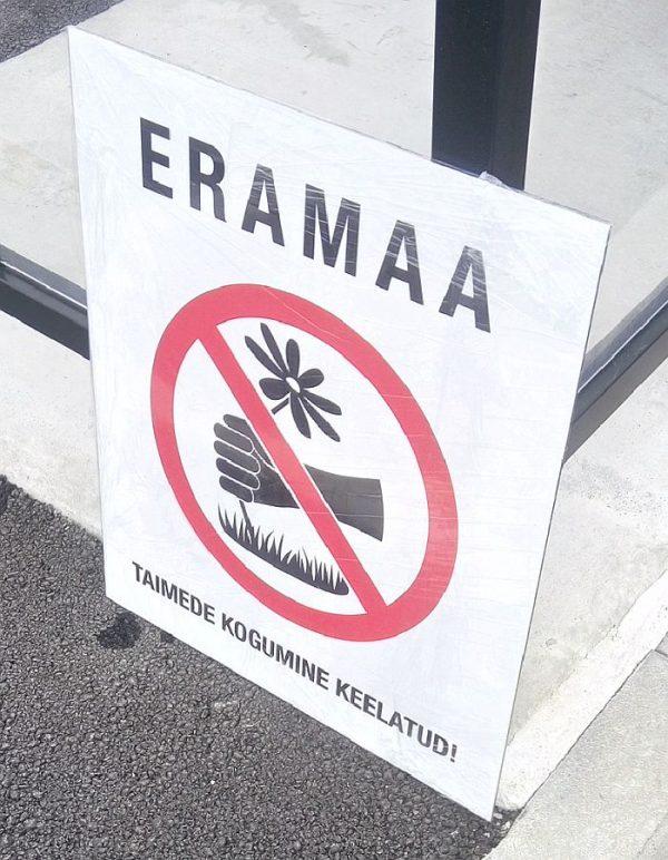 Eramaa taimede korjamine keelatud